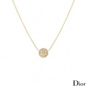 Dior Yellow Gold Rose des Vents Necklace JRDV95005
